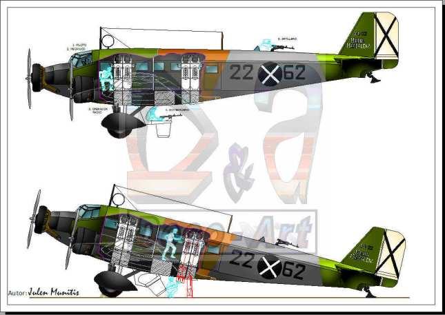 Junkers Ju 52 y ESAC 250