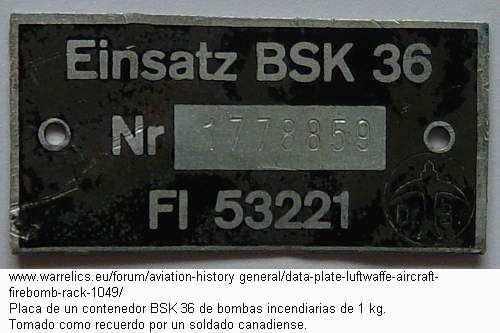 Placa de un BSK-36